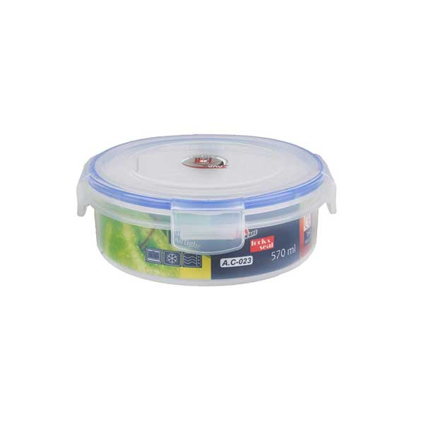 ظرف فریزری پلاستیکی گرد 570 سی سی آوا