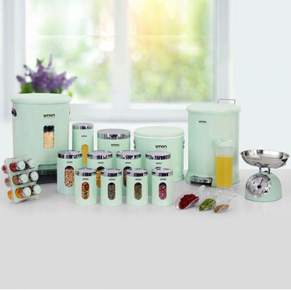 سرویس آشپزخانه لیمون 4گوش 22 پارچه