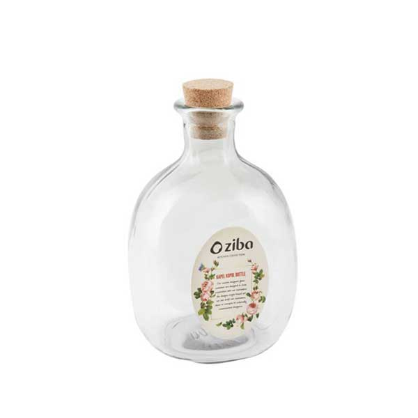 بطری شیشه ای چوب پنبه زیبا