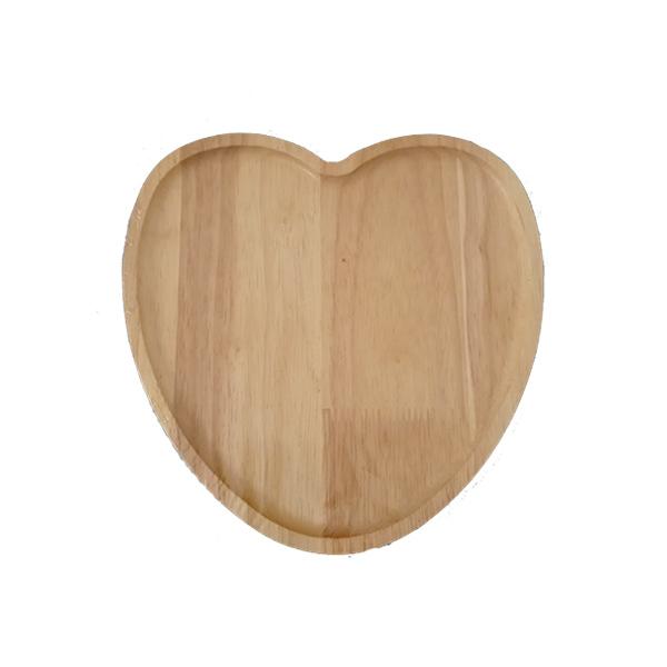 بشقاب چوبی قلبی بزرگ