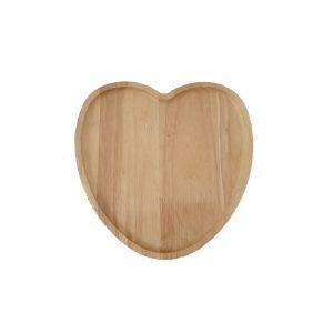 بشقاب چوبی قلبی کوچک