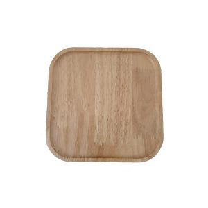 بشقاب چوبی مربع کوچک