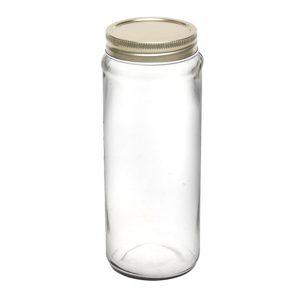 بانکه شیشه ای درب فلزی سایز 1