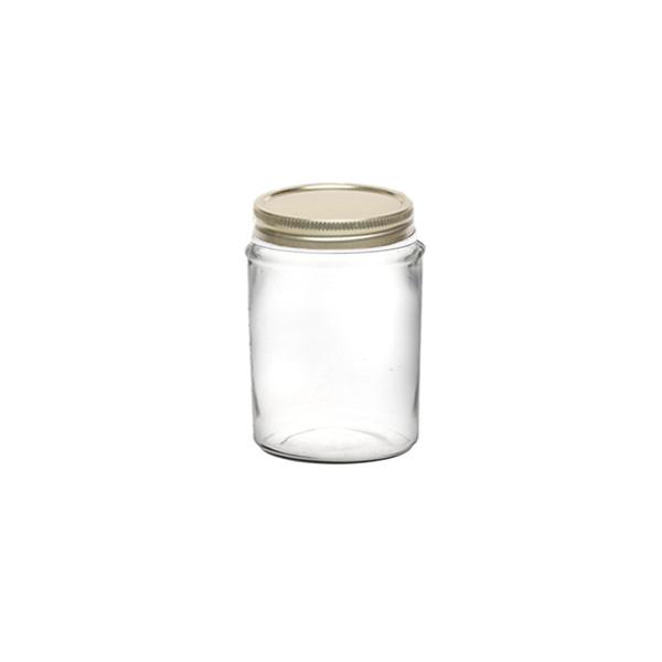 بانکه شیشه ای درب فلزی سایز 4