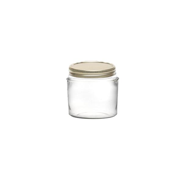 بانکه شیشه ای درب فلزی سایز 5