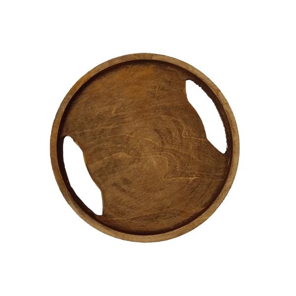 سینی گرد چوبی